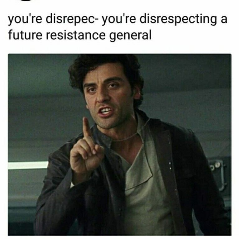 The Resistance Theme Plays With Full Bass Star Wars Jokes Star Wars Humor Star Wars Memes