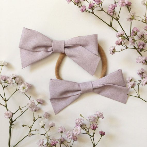 $9   School Girl Bow Lilac Headband with Nylon Band or Clip, Easter Bow Headband, Spring Bow Headband, nylon headbands, baby girl headband, newborn headband, one size fits most, toddler headband, accessories, baby bows, baby shower, birthday girl favor, girl birthday, stretchy headband, ever iris, hair bows, hair clips, baby girl, Valentine' Day bow for girls