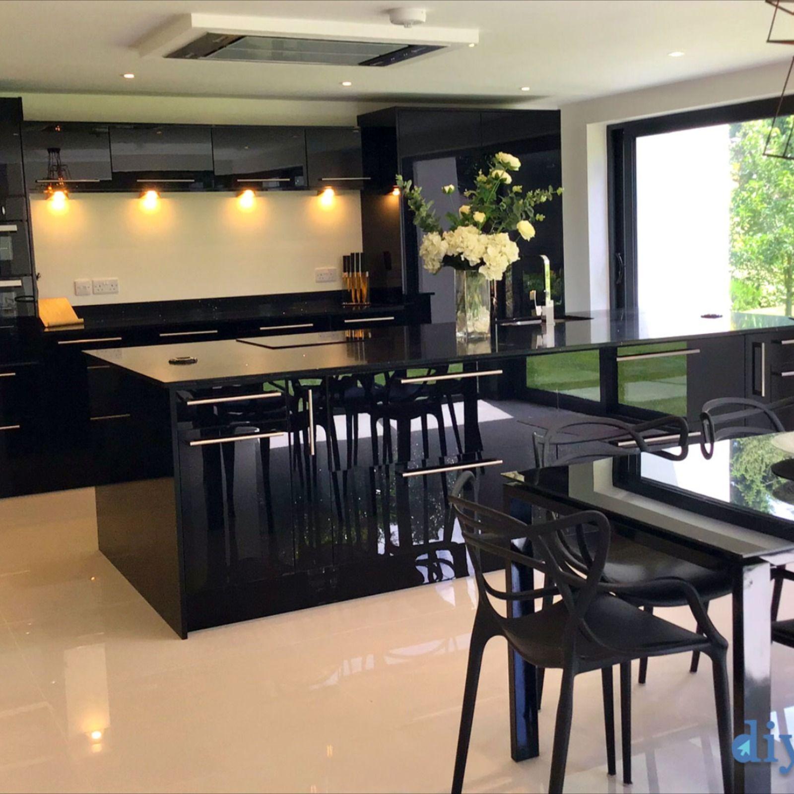 Altino Black in 2020 Cheap kitchen units, High gloss