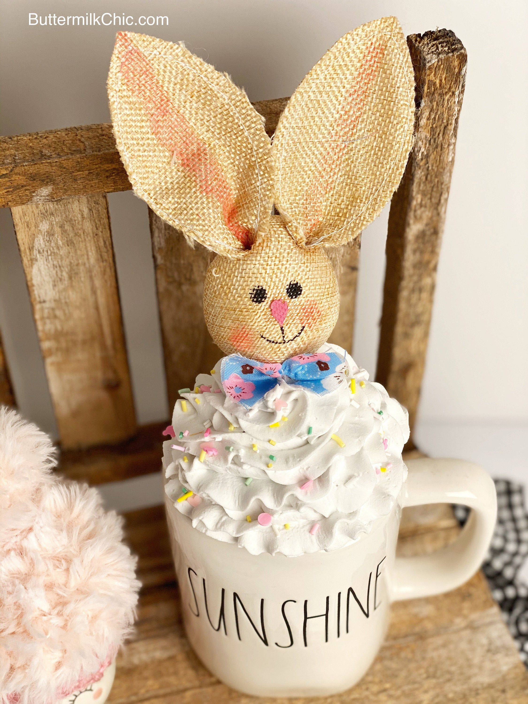 Faux Whipped Cream Bunny Mug Topper Mug Topper For Your