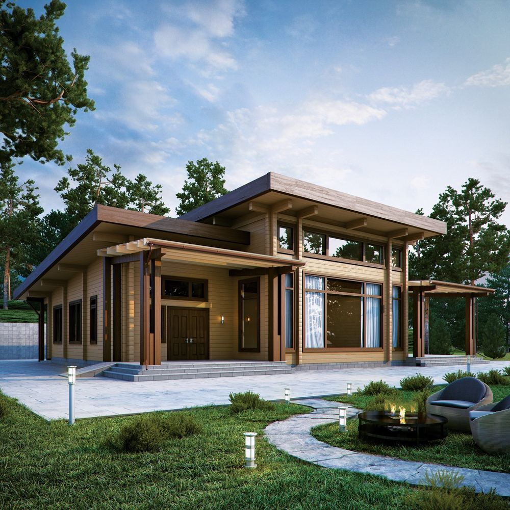 Ecofriendly Prefab Laminated Log House Kit Diy Building
