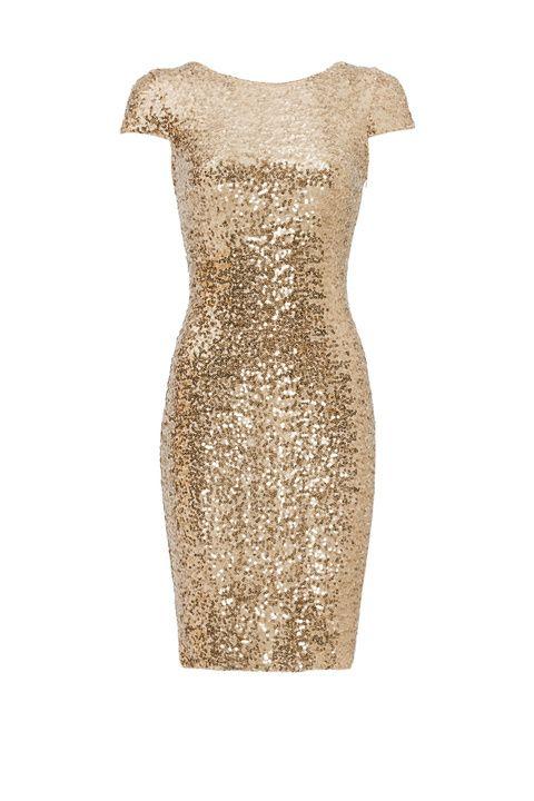 Gold Swank Sequin Sheath by Badgley Mischka at Rent The Runway - $75 rental