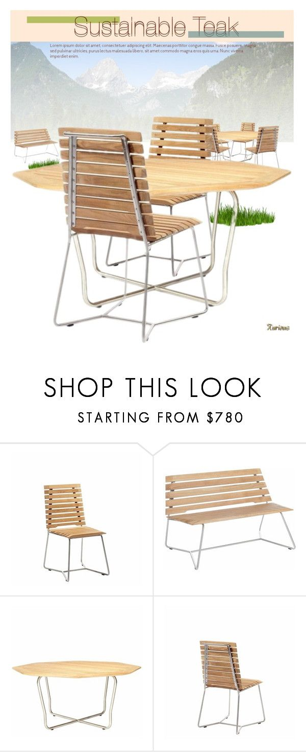 """Sustainable Teak"" by kurious ❤ liked on Polyvore featuring interior, interiors, interior design, дом, home decor, interior decorating и Bambeco"