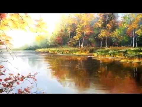 Autumn Landscape Palette knife step by step OIl Painting by Alexander - YouTube