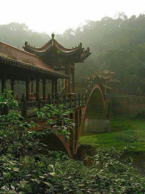 Leshan, China Çin - China Pinterest China and Destinations - chinesischer garten brucke