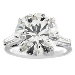 5.60 Carat Round Brilliant Cut Diamond Platinum Ring