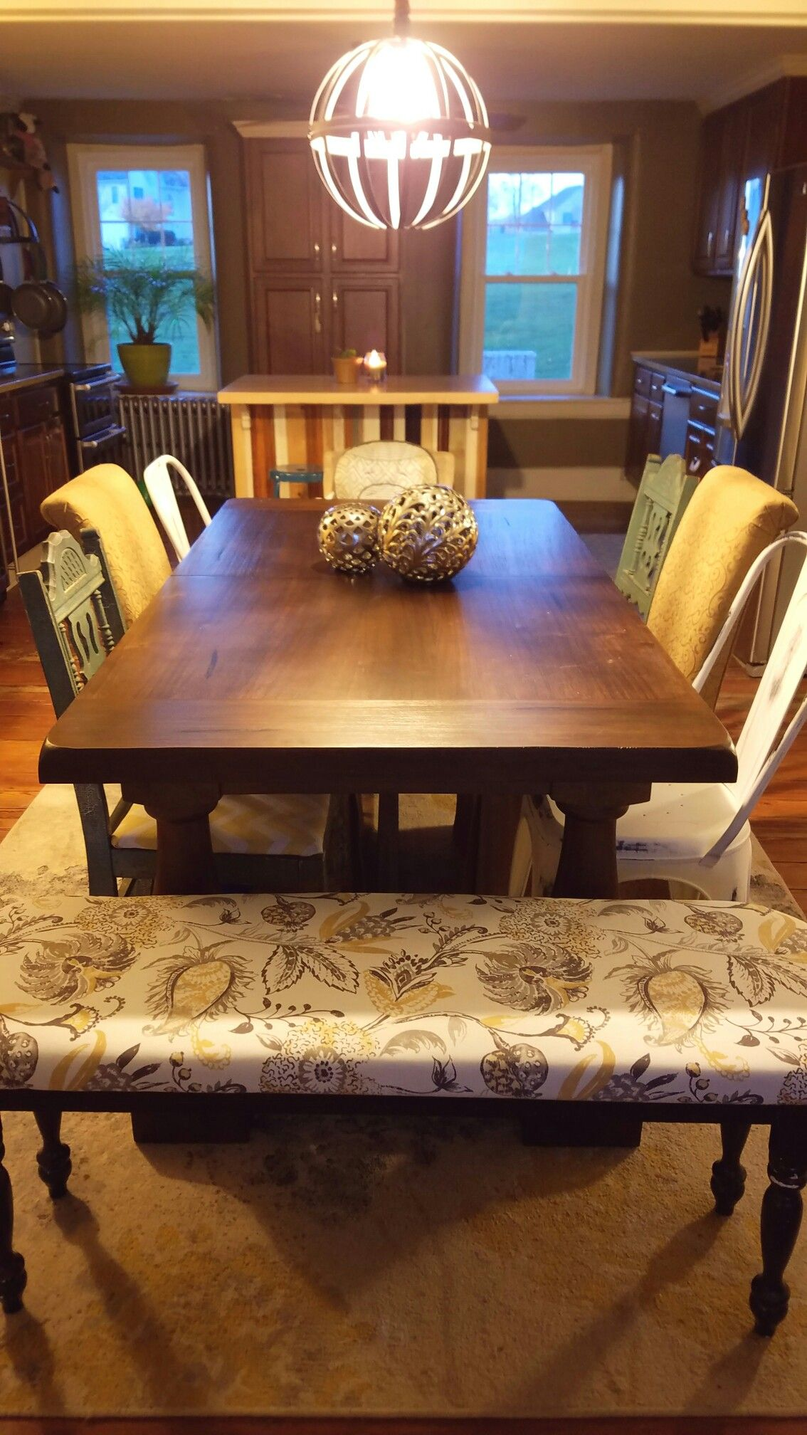 Mismatched chairs with farmhouse table > greyson