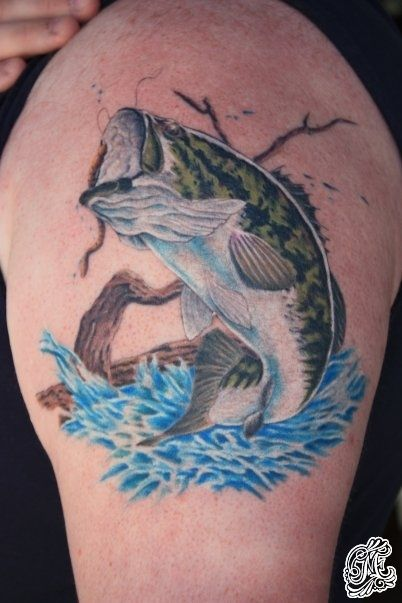 Large Mouth Bass Eric Easterday Tattoo Artists Tattoos Bass Fishing Tattoo