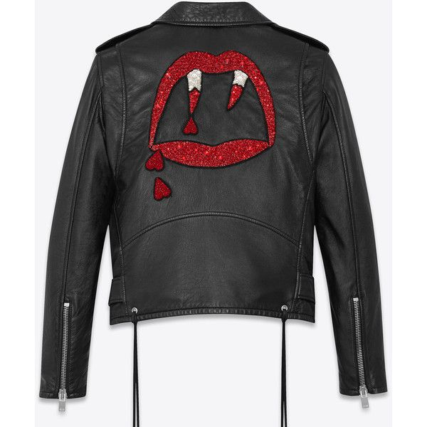 92b2c51e9 Saint Laurent Blood Luster Motorcycle Jacket ($5,540) ❤ liked on ...