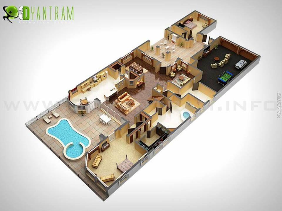 Desain Rumah Minimalis Dengan 3ds Max  dekorasi rumah minimalist 50 denah rumah minimalis 3d 3