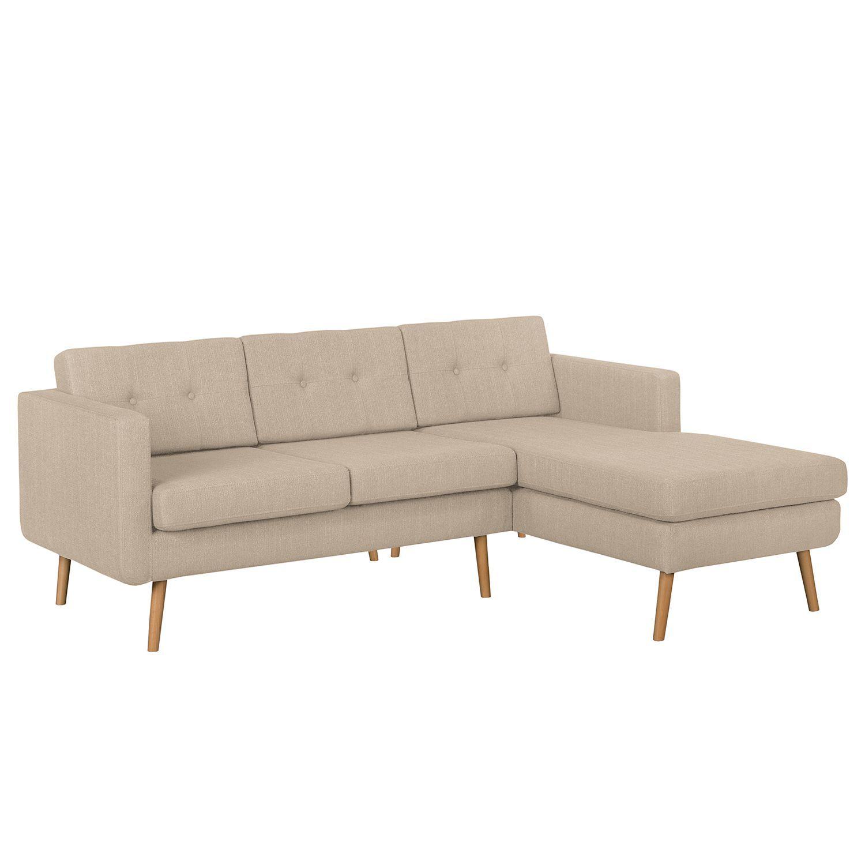 Ecksofa Croom - Strukturstoff - Longchair davorstehend rechts ...