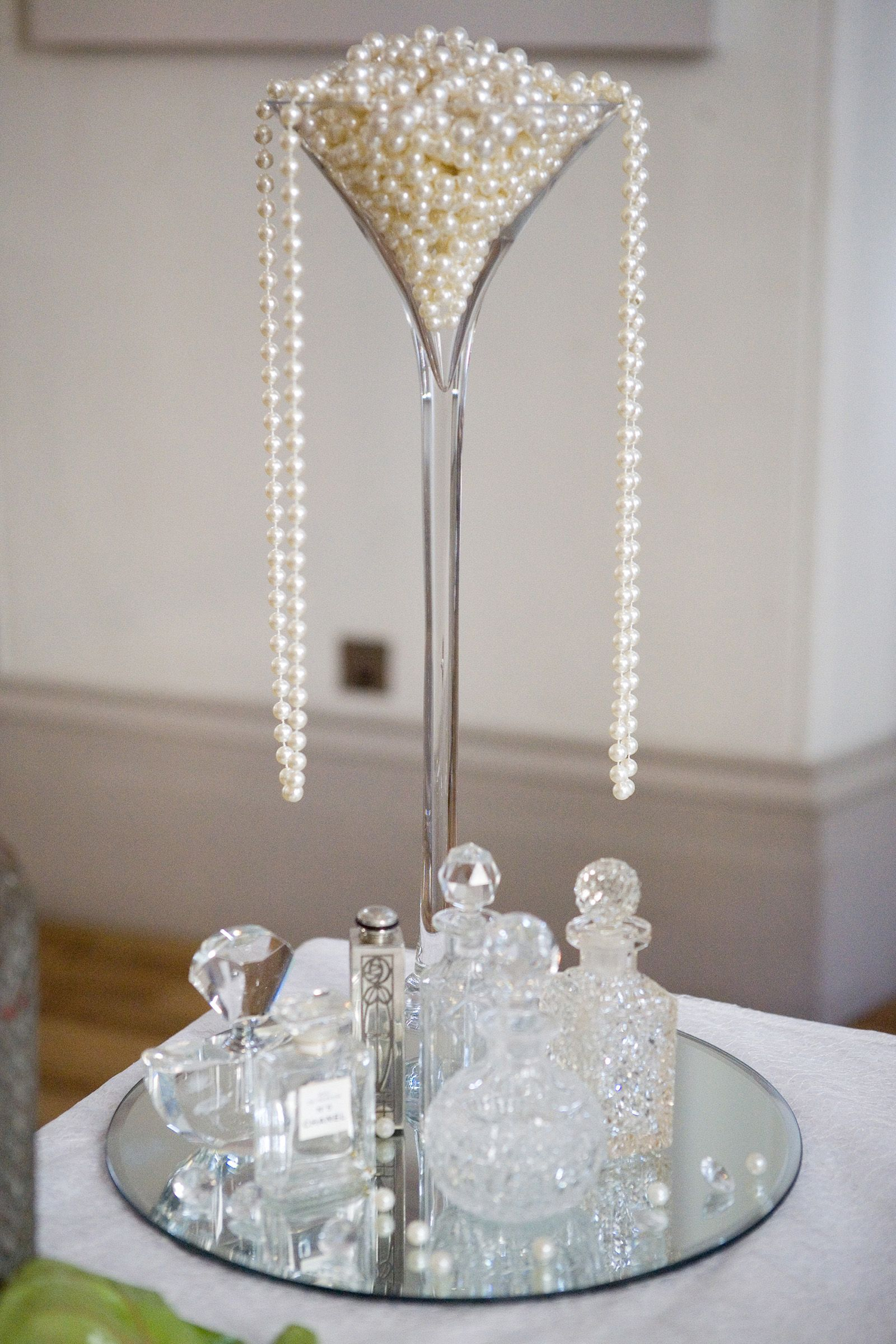 1920s wedding decoration ideas  s Party Ideas  Champagne glasses Centre pieces and Wedding styles