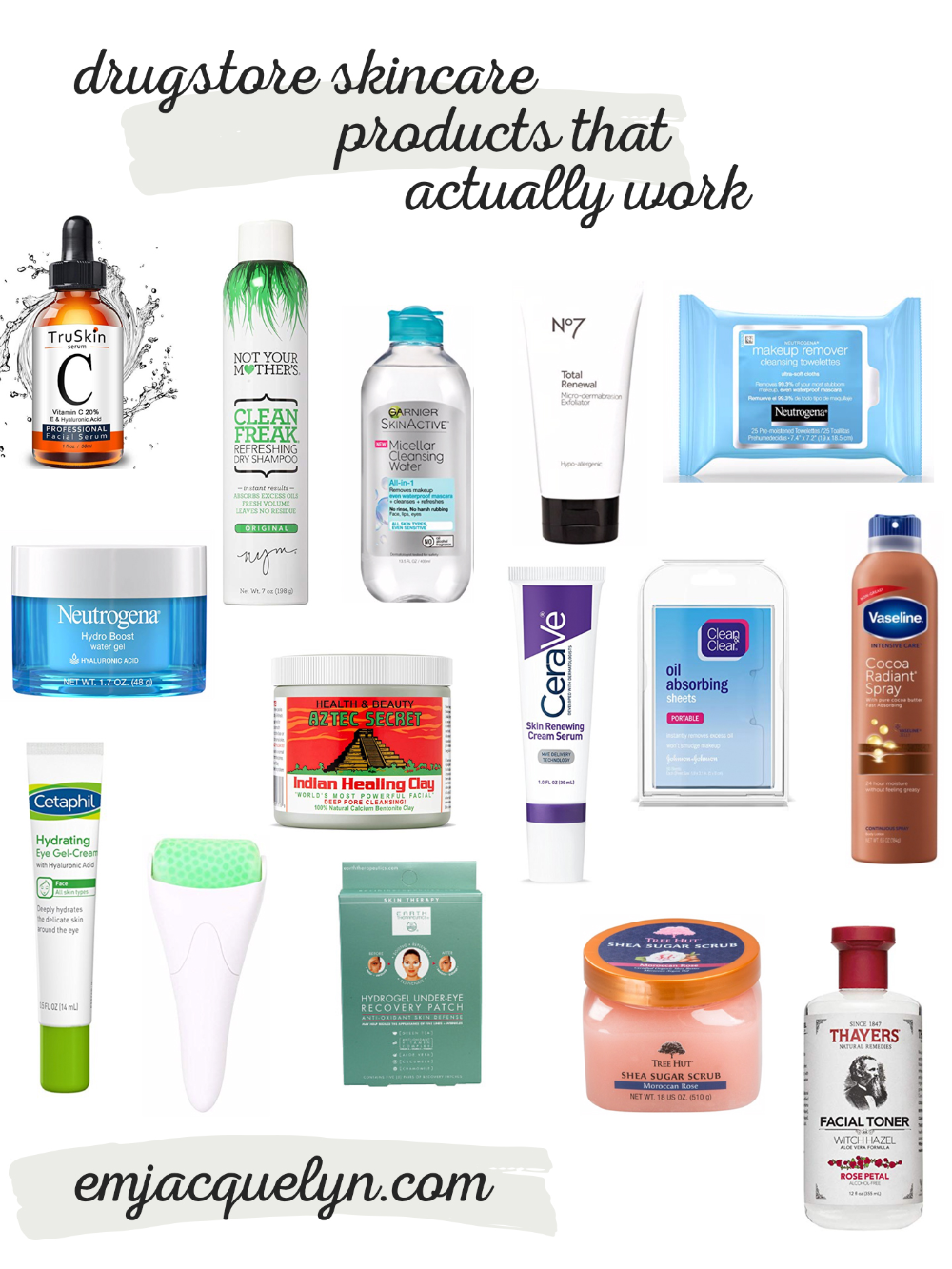 Drugstore Skincare Products That Actually Work Emjacquelyn Drugstore Skincare Affordable Skin Care Skin Care