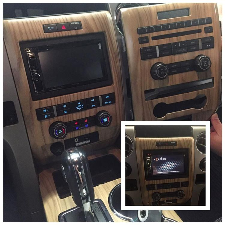 repost from @audioexpressrva Does your dashboard have an odd layout? This woodgrain styled F150 radio bezel looked great from the factory but the radio came with very few features. Now, using a Metra dash kit, this F150 has a feature packed Kenwood navigation at the helm. Swing by today and check out your options! #Ford #F150 #FordTruck #trucks #truck FordF150 navigation Garmin nav Kenwood Excelon KenwoodAudio Touchscreen bluetooth caraudio audio custom style photooftheday audioexpre..
