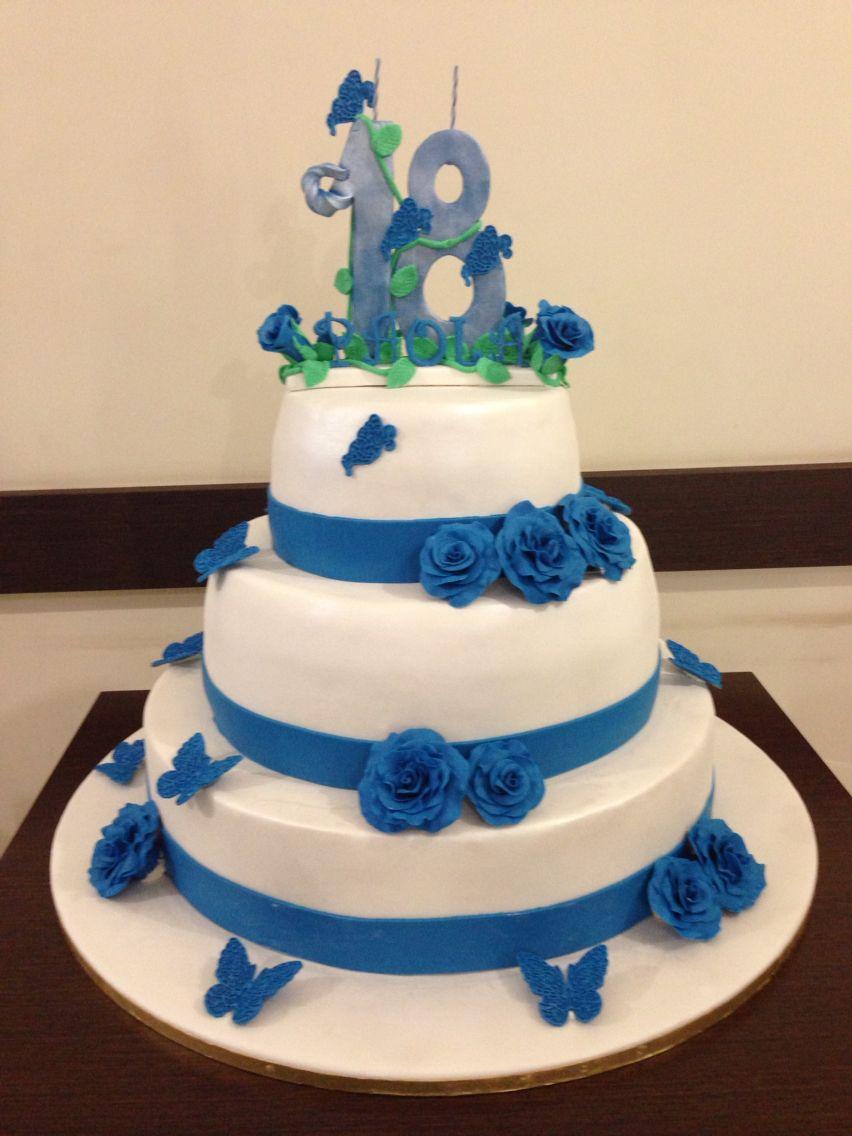 Torta per il compleanno di 18 anni torte con i fiori for Torte per 18 anni maschile