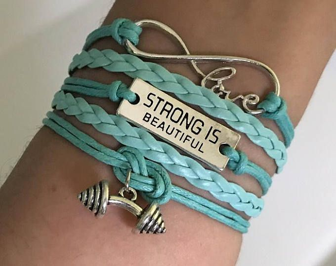 Strong Is Beautiful Fitness Bracelet Gym Workout