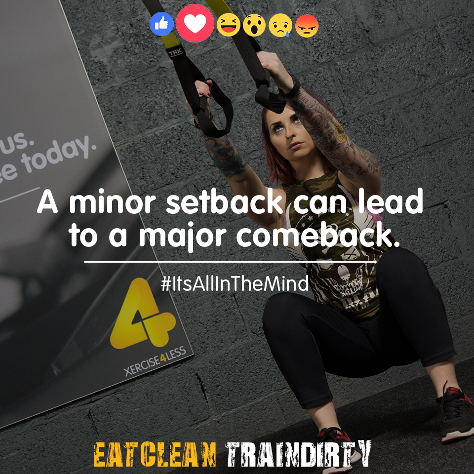 A minor setback can lead to a major comeback. | A minor ...