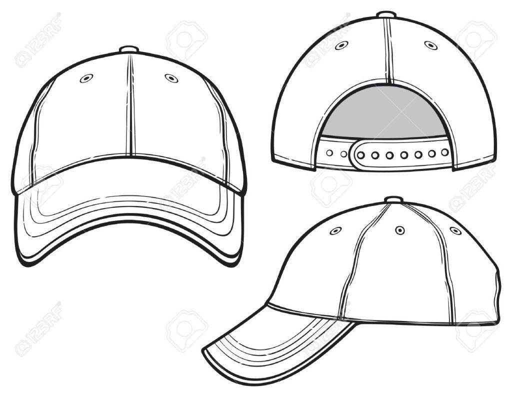 19189257 Baseball Cap Stock Vector Template Fashion Design Drawings Cap Drawing Fashion Design Template