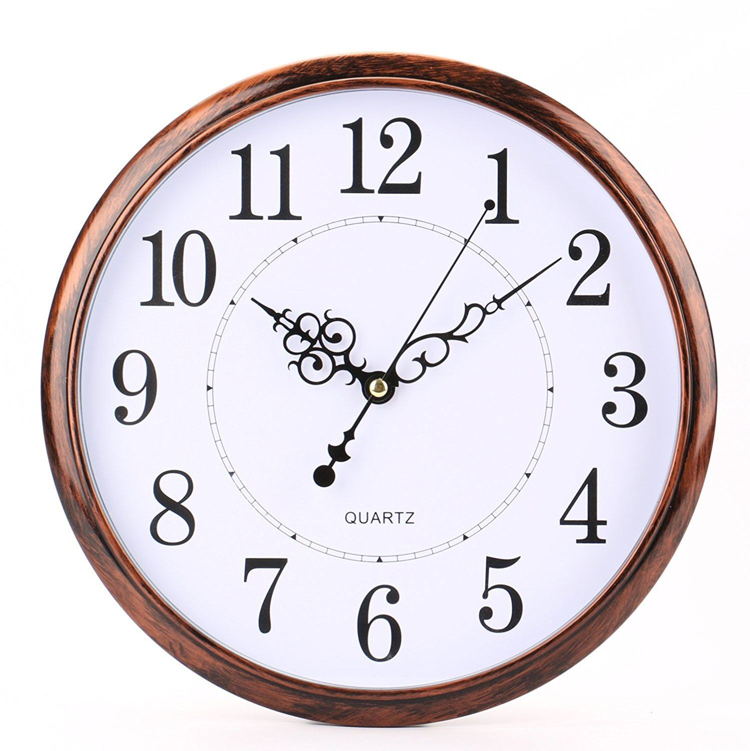 Bekith 12 Inch Retro Clock Non Ticking Silent Quality Quartz Decorative Home Office School Wall Clock Lavorist Retro Clock Retro Wall Clock Kitchen Wall Clocks