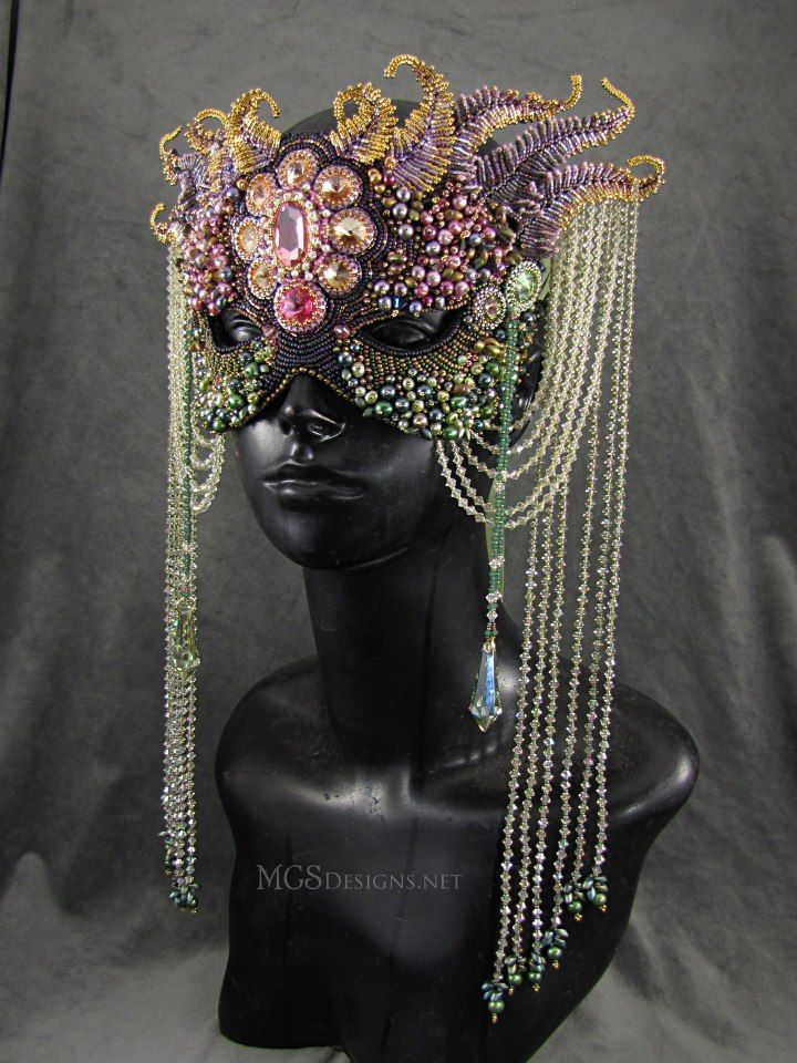 Melissa Grakowsky Shippee, beaded mask, see her FB page