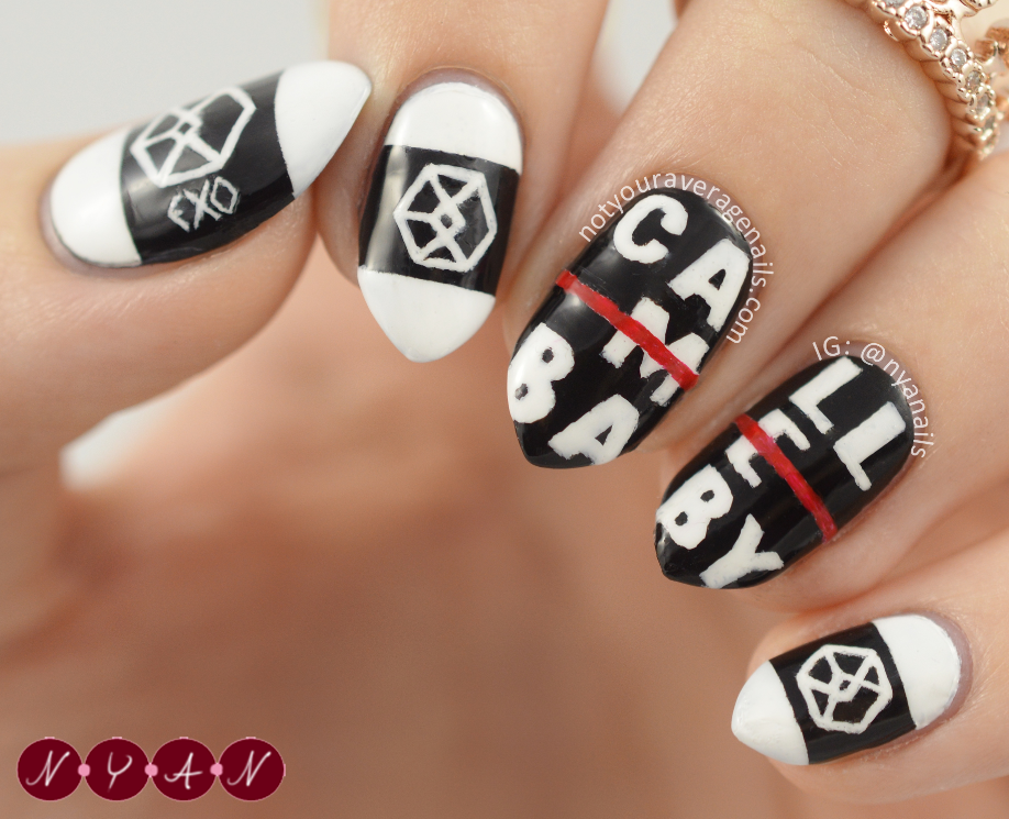 exo call me baby nails | nails | Pinterest | Exo, Baby nails and Kpop