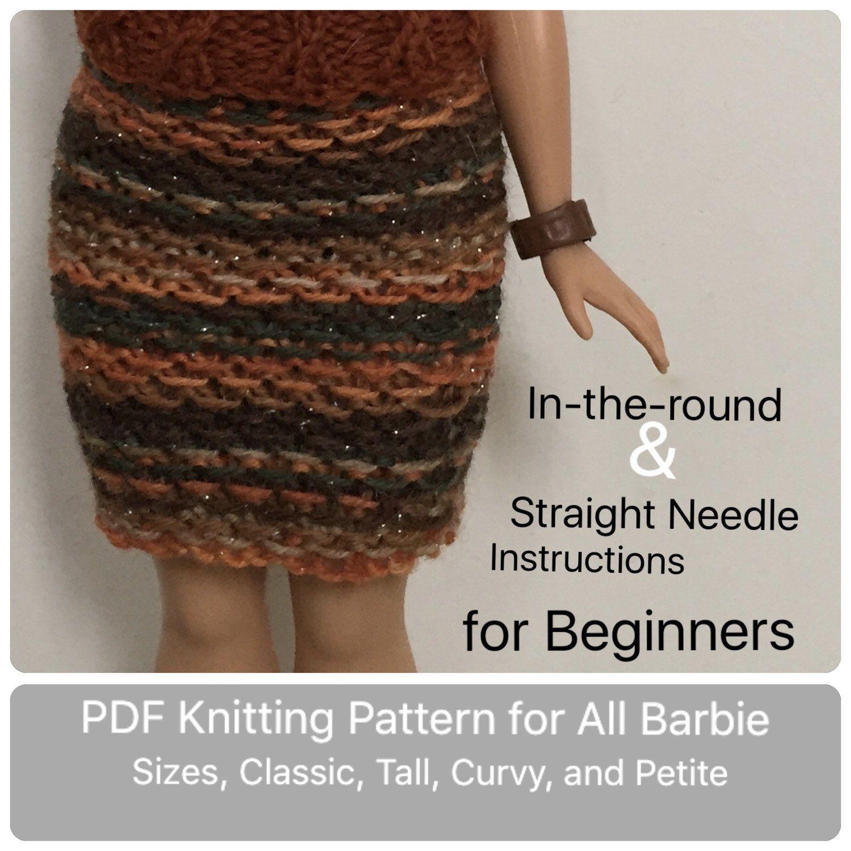 Barbie Easy Knitting Pattern for Beginner Skirt ...