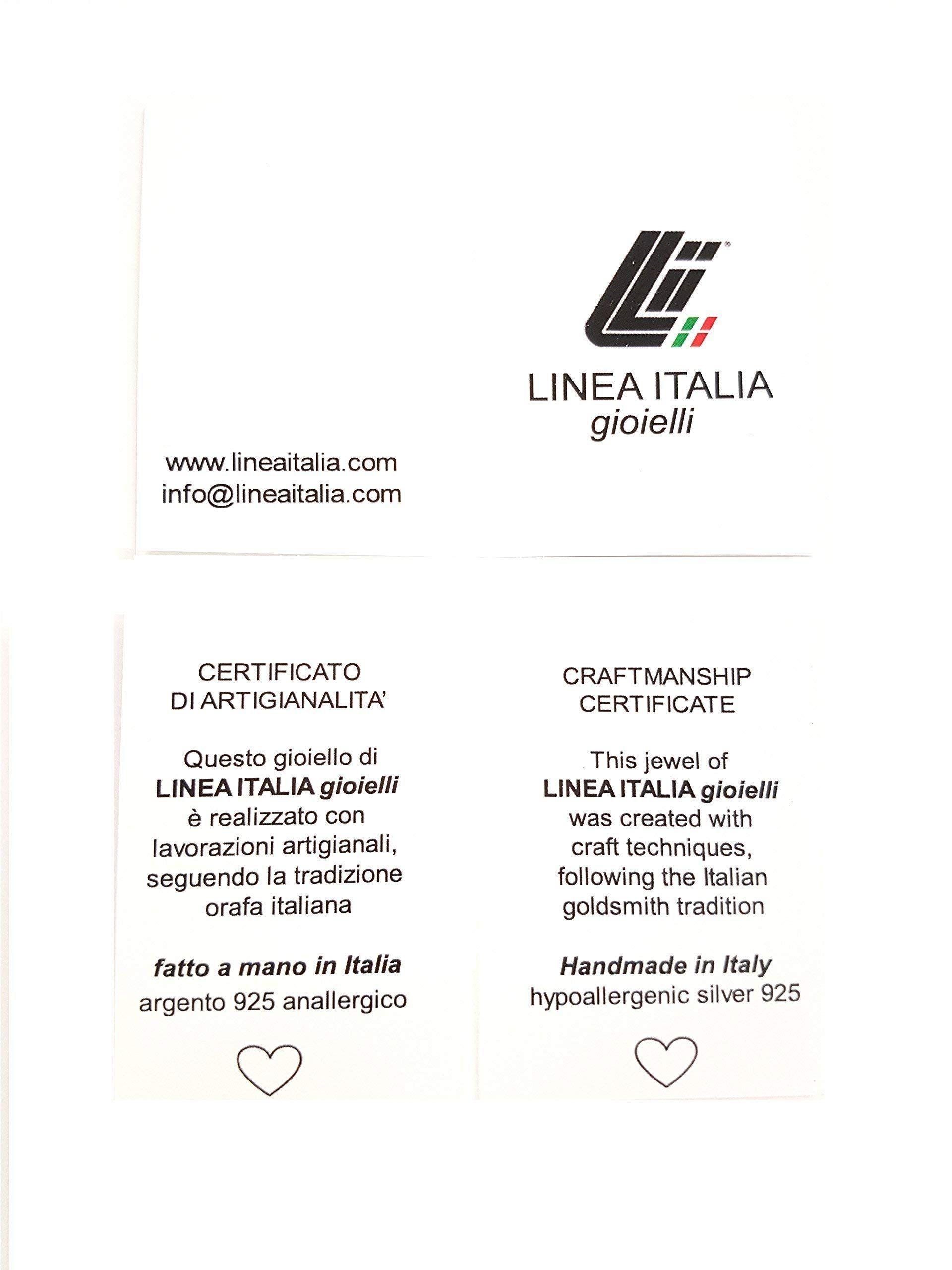 Linea Italia Gioielli Made In Italy Con Croce E Madonna Bracciale Rosario In Argento 925 E Pietre Grigie