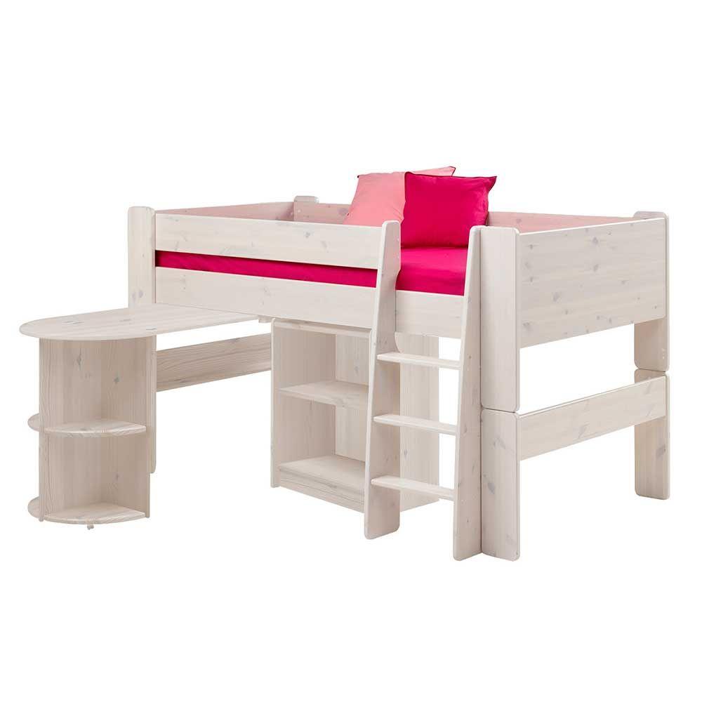 Halbhohes Hochbett Mit Schreibtisch Weiß (3 Teilig) Jetzt Bestellen Unter:  Https: