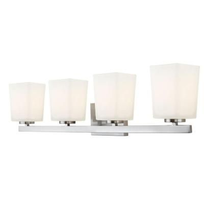CANARM Hartley 4-Light Brushed Nickel Vanity Light with ...