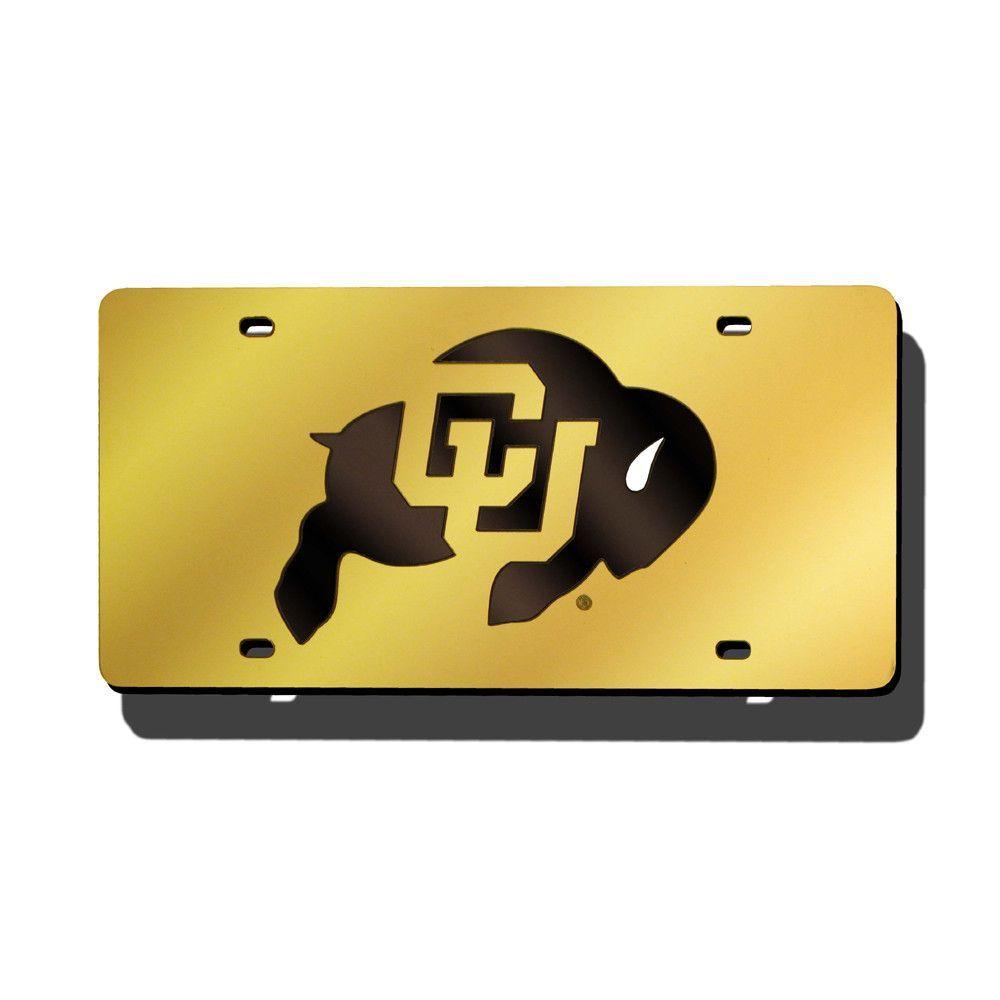 Colorado Golden Buffaloes NCAA Laser Cut License Plate Cover