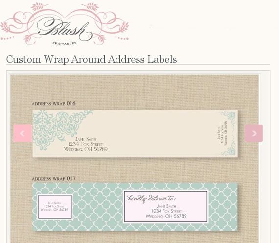 Wrap Around Address Labels | [ Paperie ] | Pinterest | Blush