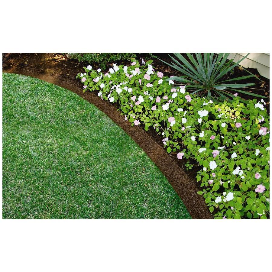 Shop rubberific landscape border 8 ft brown landscape for Garden sectioning ideas