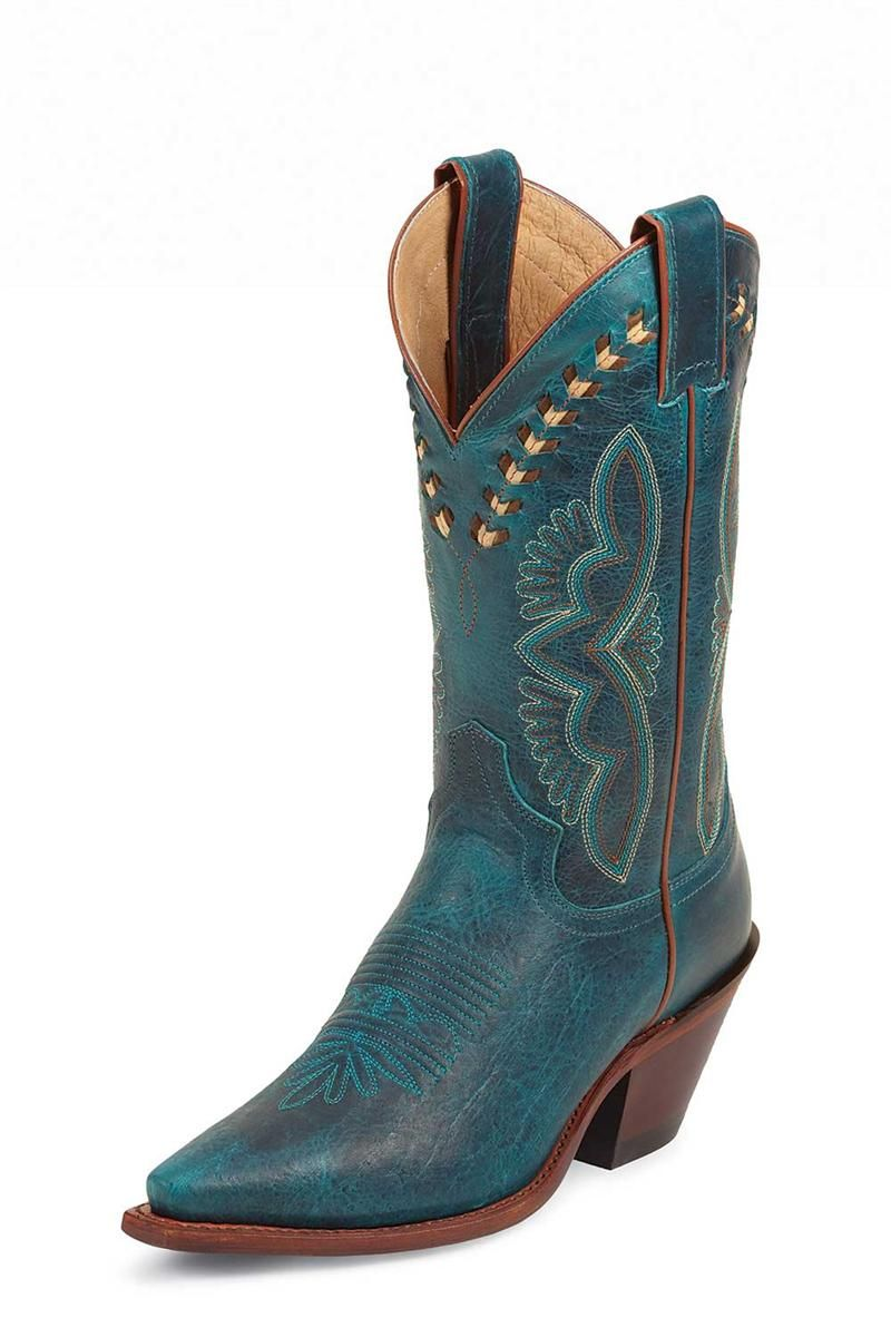 Justin Boots Women's Damiana Turquoise Cowgirl Boots - on sale $181.40 & free shipping!