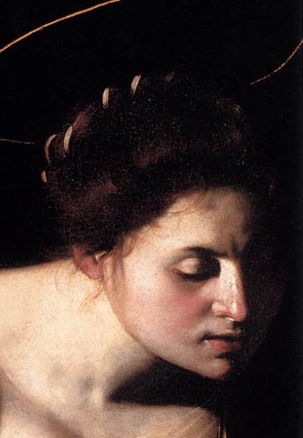 Madonna Palafrenieri (detail) 1606, Caravaggio