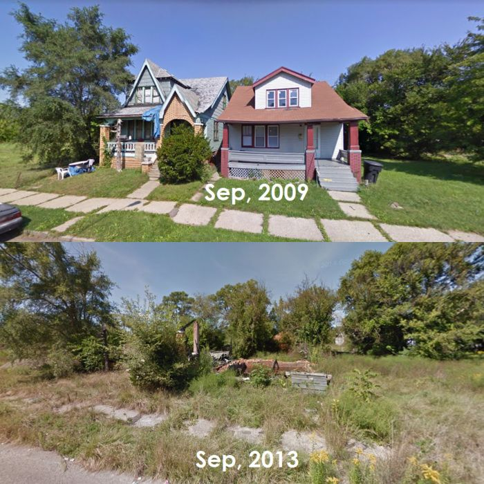 The Decay Of Detroit (Before & After)