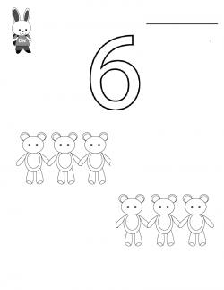 Alti 6 Rakami Boyama Sayfasi Rakamlar