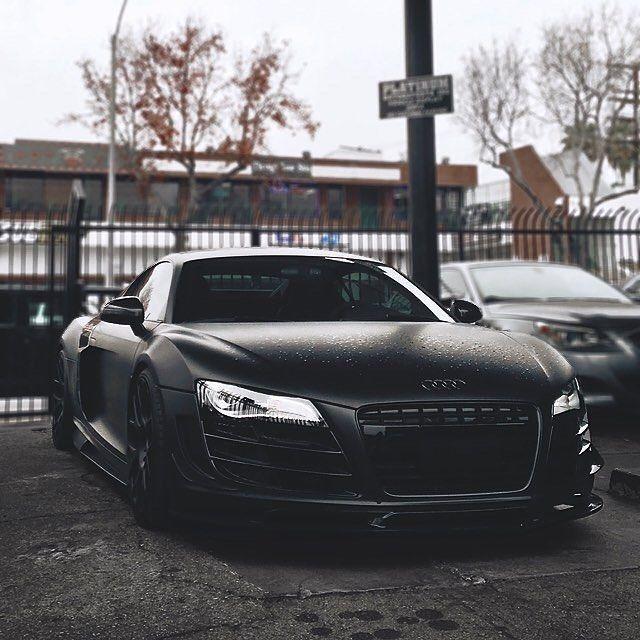 Cool Audi: Kik:SoLeimanRT On Instagram: U201cMatte Black Audi R8 V10 ⚫