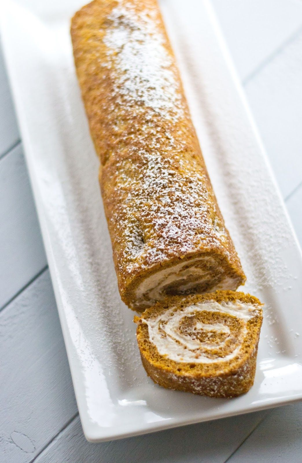 Pumpkin Roll Cake with Whipped Cinnamon Cream Cheese