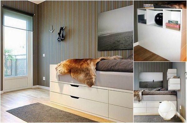 High Bedded Build Yourself Ikea Hack Nordli Commode White Nursery Blue Bed Design Furniture Design Ikea Furniture