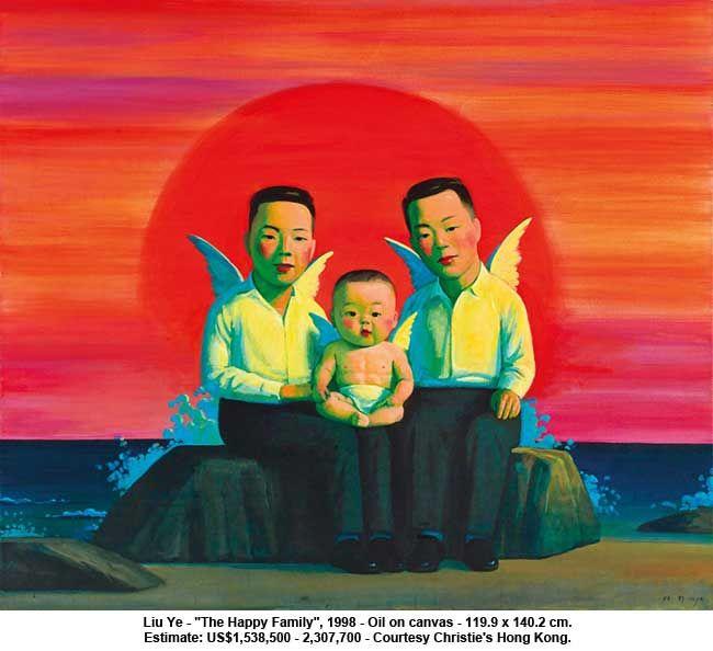 "Liu Ye, ""The happy family"""