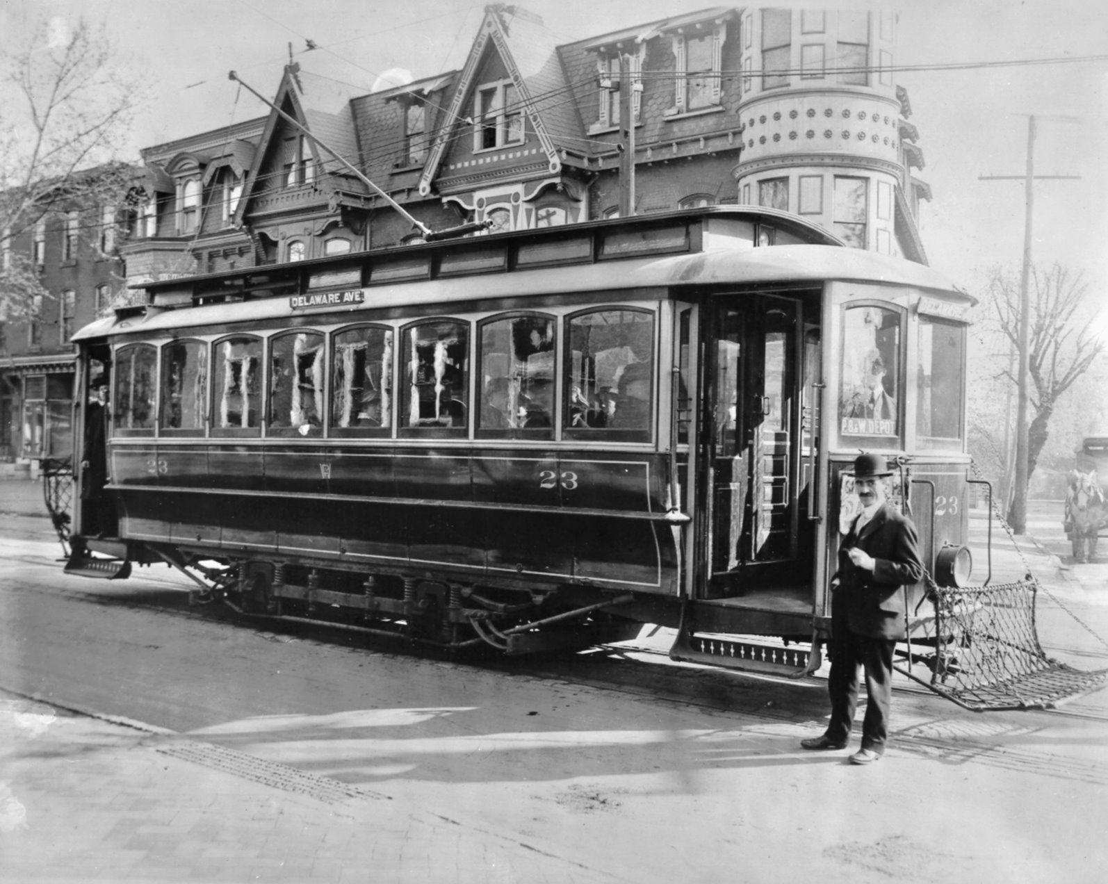 Vintage Streetcar In Wilmington Del Trolleys Etc