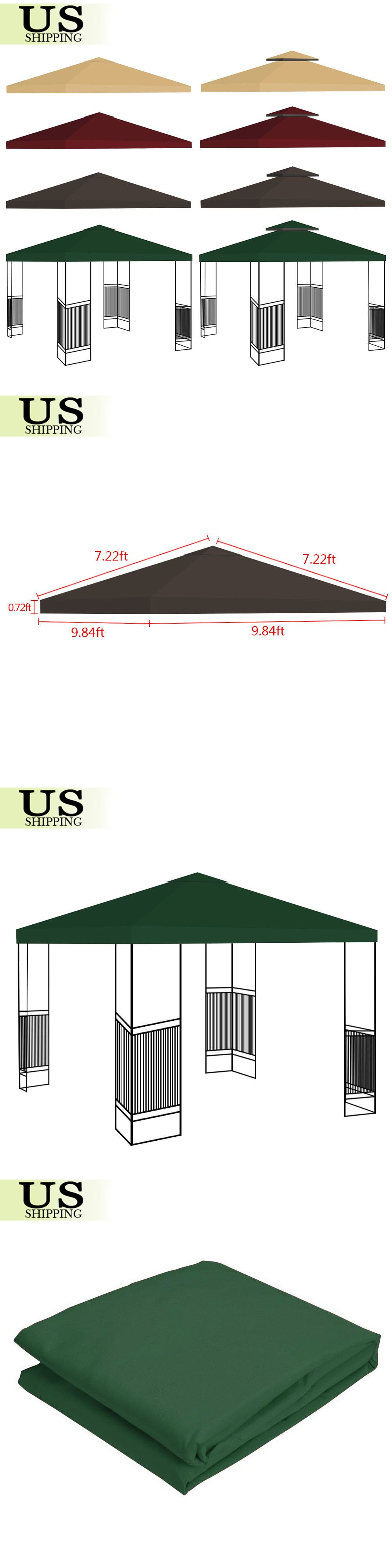Awnings And Canopies 180992 10 X10 Gazebo Tent Top Canopy Replacement Sunshade Patio Outdoor Garden Cover Buy It Now O Gazebo Tent Outdoor Sun Shade Canopy