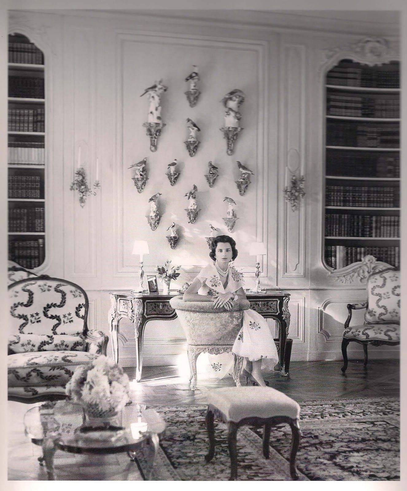 Palm Beach Chic Circa 1990s: Jayne Wrightsman Sitting In The Library Of Her Palm Beach