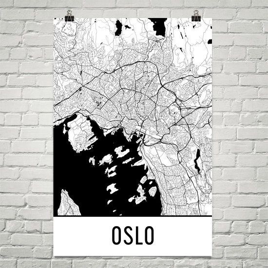 Oslo Map Art Print Oslo Norway Art Poster Oslo Wall Art Oslo - Norway map to print