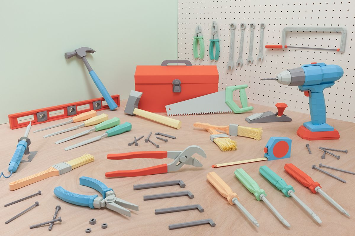 Paper Toolbox - All this is made of paper! MAD!