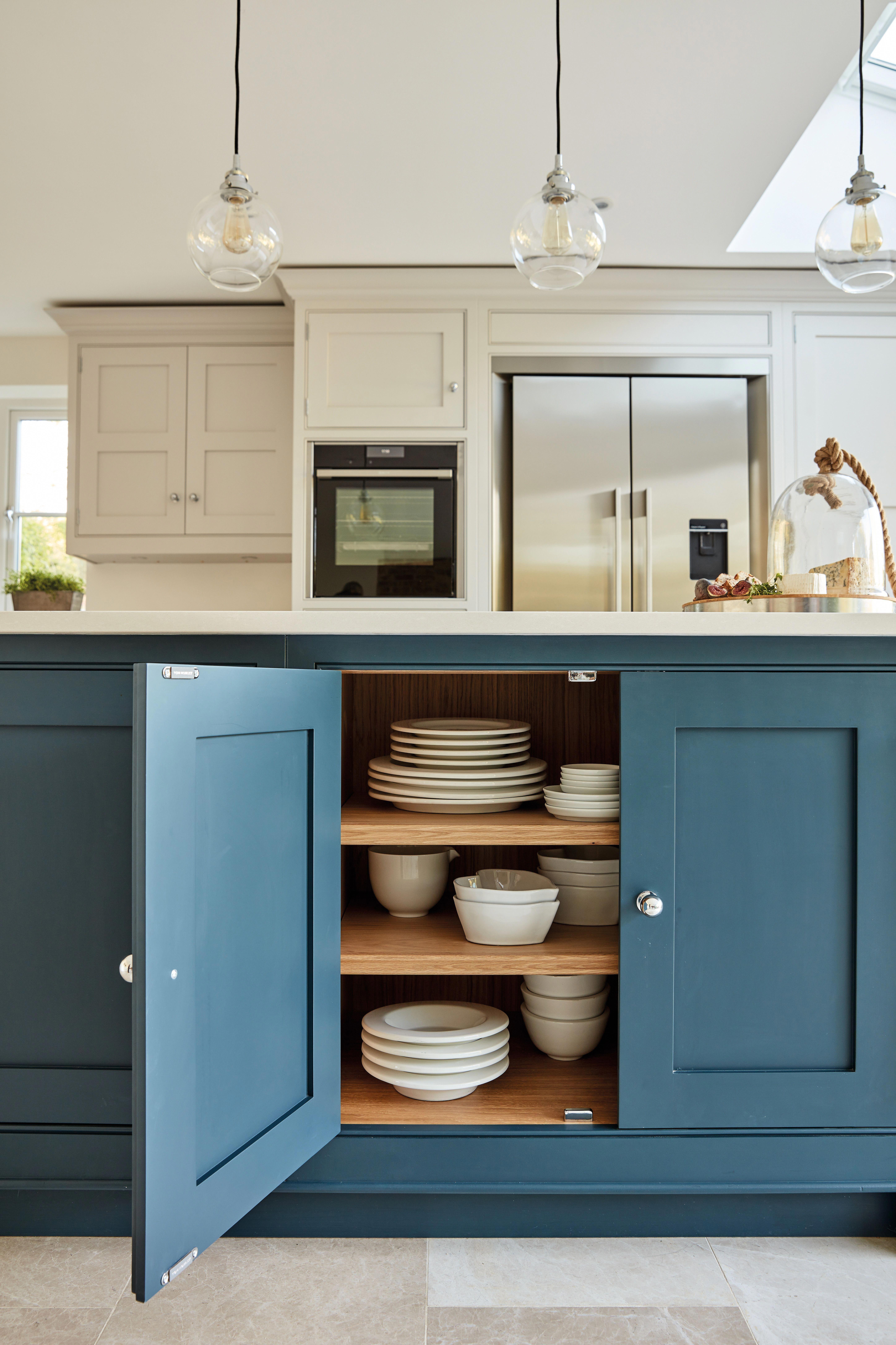Kitchencupboards Blue Shaker Kitchen Luxury Kitchen Kitchen Storage Solutions