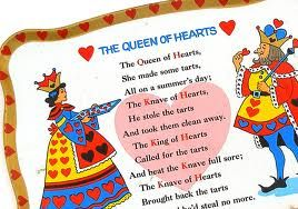 Queen Of Hearts Nursery Rhyme On A Tin Tray