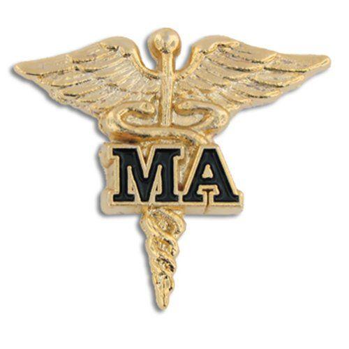 Medical Assistant MA Gold Caduceus Lapel Pin Pinmart Http