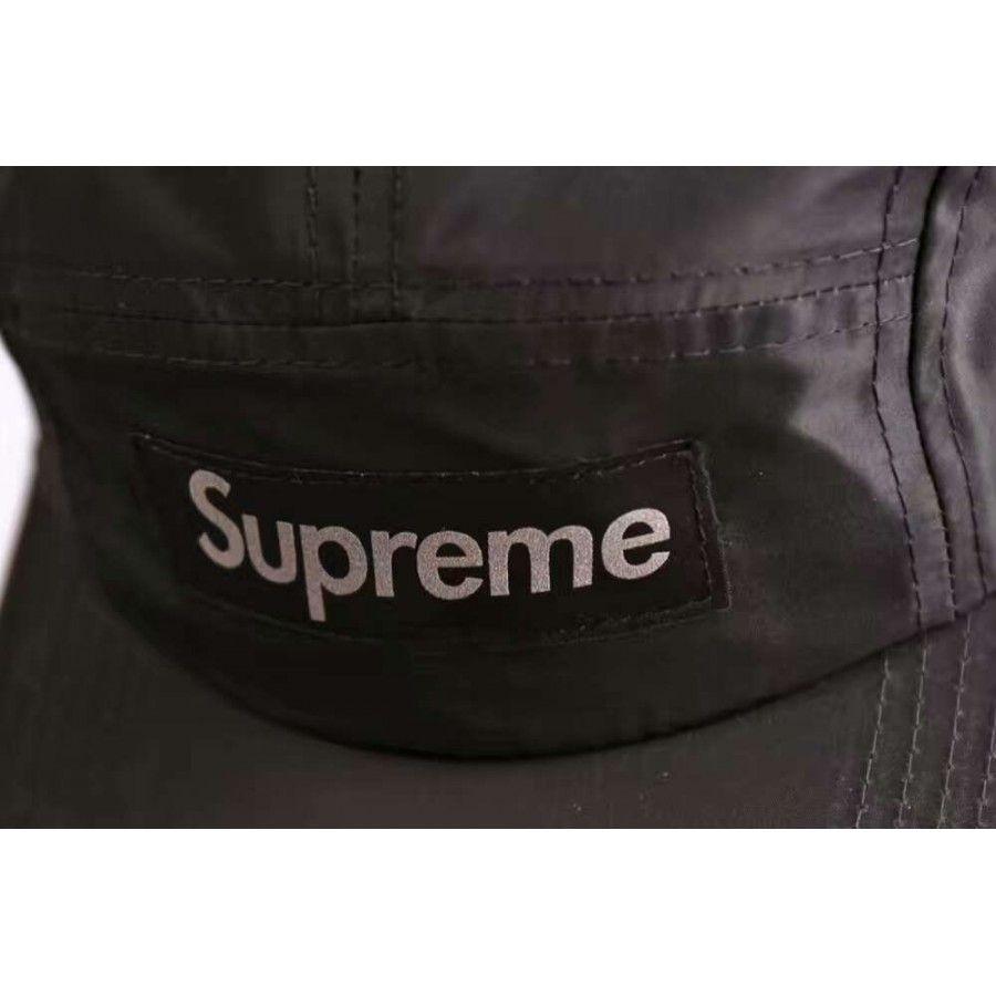 344643f81cd Supreme Printed 3M Reflective Logo Camp Cap (Black) http   hatstash.