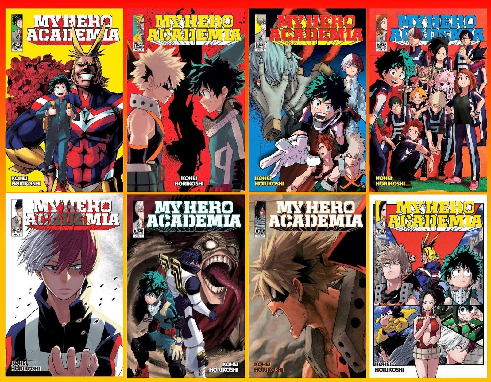 My Hero Academia Series English Manga Collection Set 1 8 Paperback Brand New My Hero Academia Manga Collection My Hero